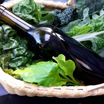 mixed greens with our 2013 Syrah